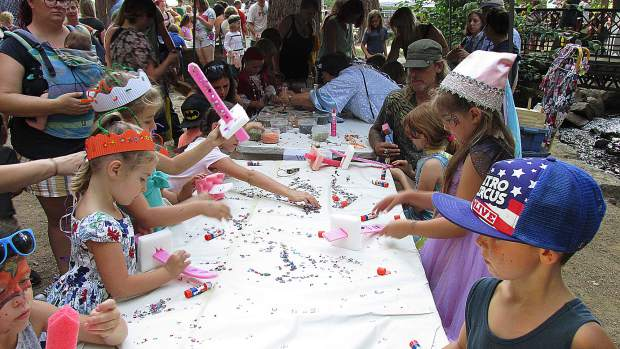 Craft time at The Children's Festival.