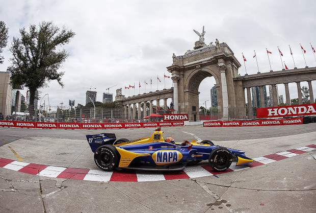 Alexander Rossi finished third at Sunday's race in Toronto and now trails NTT IndyCar Series points leader Jodef Newgarden by just four points.