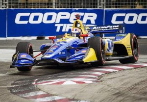 AUTO RACING: Rossi closes gap on Newgarden after podium finish in Toronto
