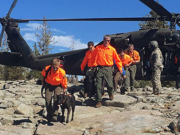 Nevada County Sheriff's Office Search and Rescue team members use aircraft to reach remote areas.