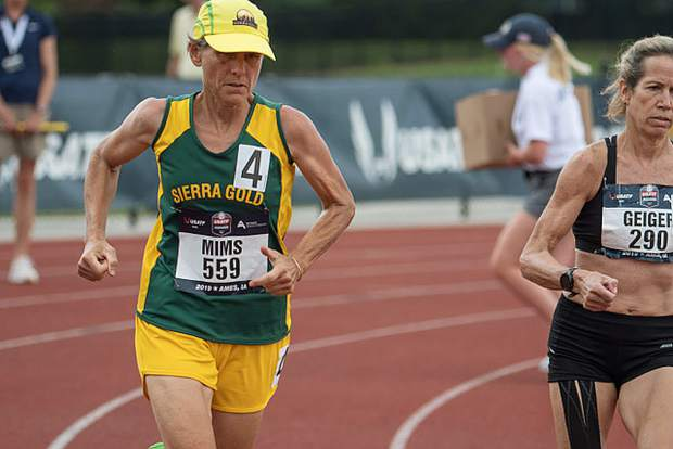 Sierra Gold athlete Inka Mims at the USATF Outdoor World Championships in Ames, Iowa.