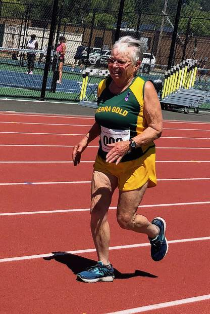 Sierra Gold distance runner Lynne Hurrell won gold in the 800-meter, 1,500m and 5,000m at the USATF Outdoor Championships in Ames, Iowa.