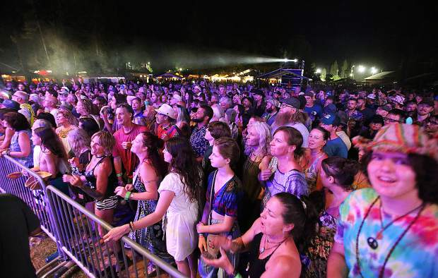 Thousands of folks attending California WorldFest line up to see Saturday night's headliner, Toots and the Maytals.