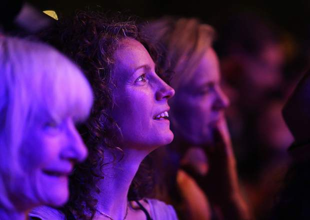 Folks in the crowd are entranced by the classic reggae funk sound of Toots and the Maytals during Saturday night's California WorldFest performance.