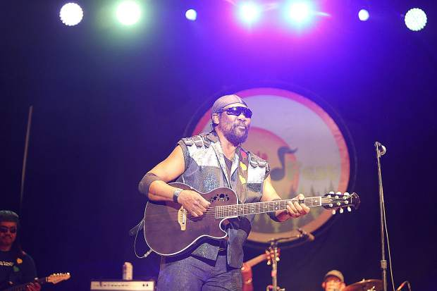 """Toots and the Maytals frontman """"Toots"""" Hibbert showed little signs of aging while playing his guitar, singing, and dancing on stage at 76 Saturday night for California WorldFest at the Nevada County Fairgrounds."""