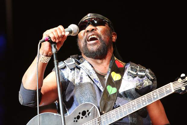 """""""Toots"""" Hibbert sings one of his classic tunes during his performance with the Maytals Saturday night in Grass Valley."""