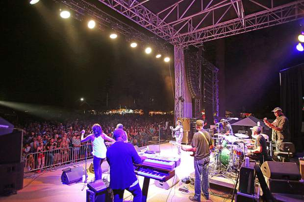 California WorldFest 2019 Saturday night headliners Toots and the Maytals perform on the Meadow main stage to a few thousand attendees of the annual world music festival.