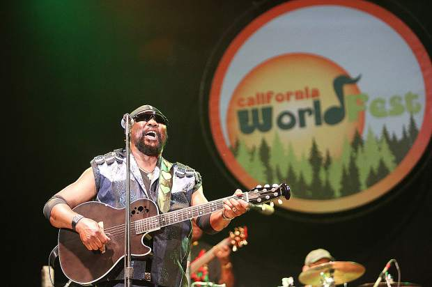 """""""Toots"""" HIbbert of Toots and the Maytals has been performing since 1962. On Saturday he brought a collection of some of his greatest hits over the years to the Nevada County Fairgrounds and California WorldFest."""