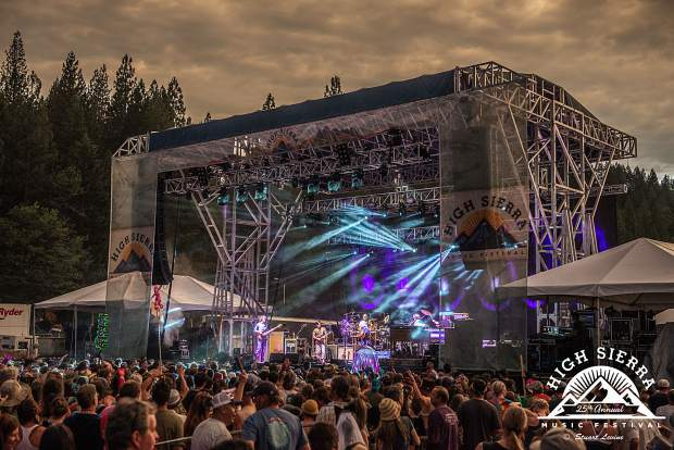 The String Cheese Incident performs on the Grandstand Stage at High Sierra Music Festival in Quincy, Calif.