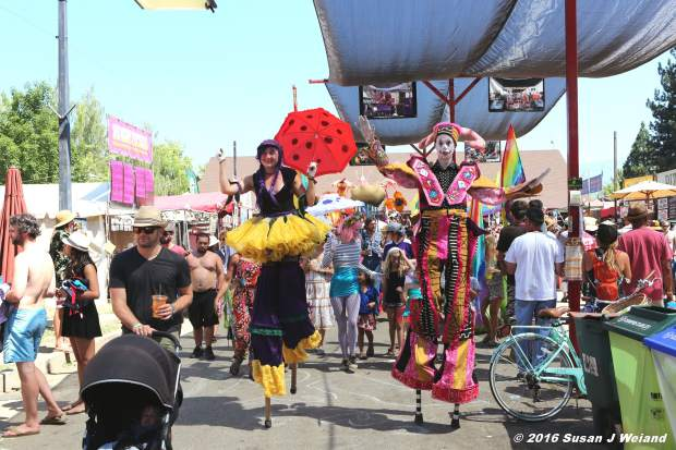 Parades are performed daily at High Sierra Music Festival.