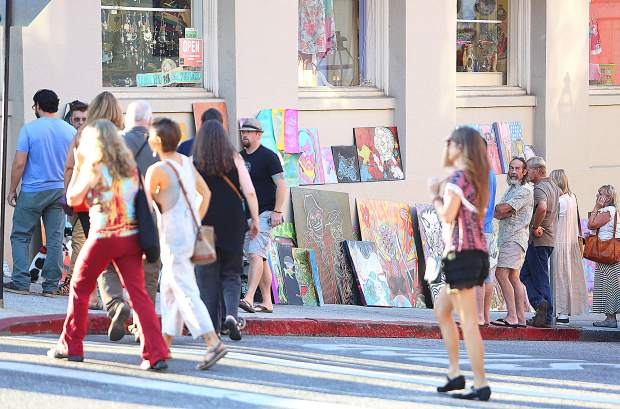 Artwork and art installations spanned the majority of downtown Nevada City during last Friday's First Friday Art Walk.