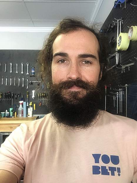 A selfie of the new bike shop owner Jay Barre. He looks forward to having the first bike shop of his own after working in similar stores for 20 years.