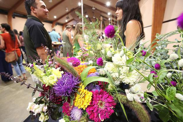 Starflower Farms offered a $1 build your own bouquet during the Bounty of the County event.