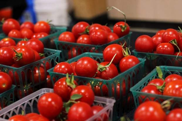 Cherry tomatoes from Mountain Bounty Farms were just one of the many local products available for attendees of 7th annual Nevada County Grown Bounty of the County held this year at the Nevada County Fairgrounds.