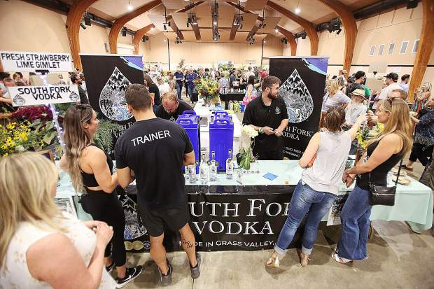 South Fork Vodka, from Grass Valley, participated in their first Bounty of the County event.