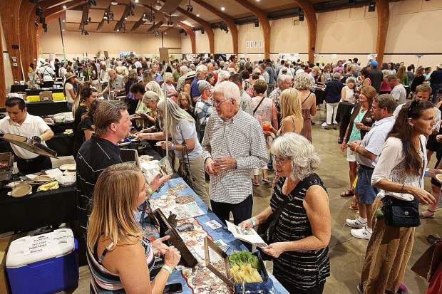 Hundreds of attendees meander through the 7th annual Nevada County Grown Bounty of the County showcasing local products ranging from food to spirits. This year's sold-out event was held at the Nevada County Fairgrounds and was host to 650 people.