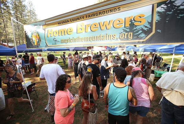 The Home Brewers section of the BrewFest featured an expanded selection of Nevada County home brewed beers where folks were able to vote on their favorite.
