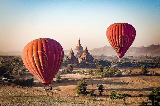 Once a traveler, always a traveler, especially in the creative world of digital photography. Balloons Over Bagan (a city in Myanmar) is another of Rachel Rosenthal's favorites.
