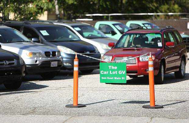Vehicle prices range from $2,500 to $10,000 at The Car Lot GV on East Main Street.