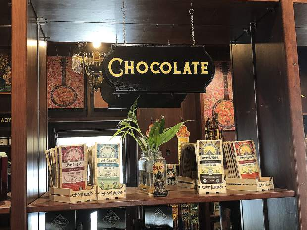 Choquiero sells a wide variety of chocolate products, some of which are harvested by Ariel Augusto Wolansky himself.