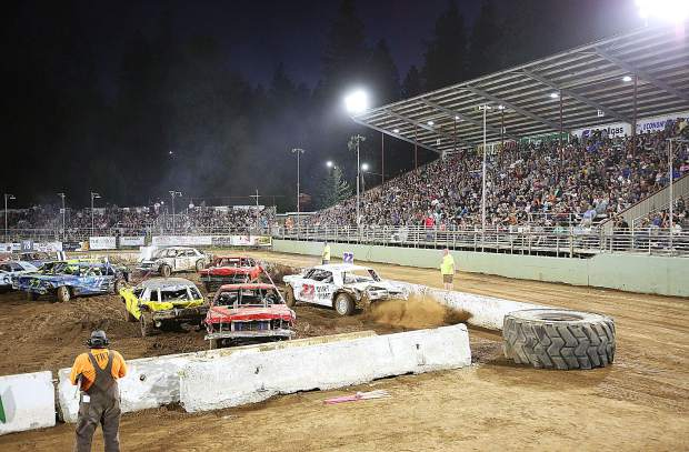 Judges watch closely to weigh each drivers' hits against one another. The first place winner of the event won $4,000. An extra $1000 was awarded to the most aggressive driver.