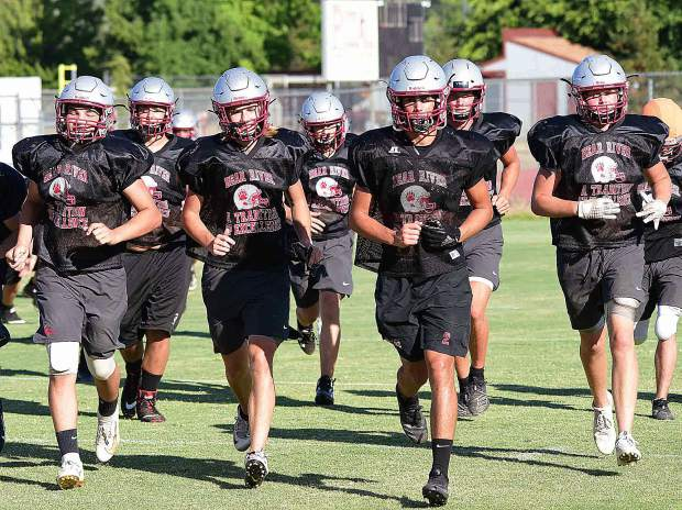 The Bear River Bruins open the 2019 high school football season Aug. 23 at home against the Truckee Wolverines. But, before the Bruins kick off the regular season, they will face off with Nevada Union in a scrimmage on Saturday.