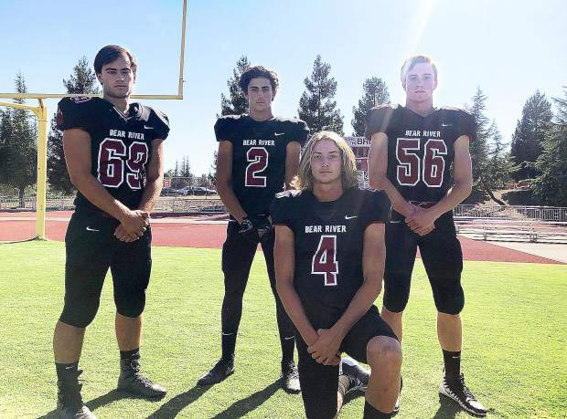 Bear River is coming off a strong 2018 campaign in which they went 11-2 and reached the Sac-Joaquin Section Division V title game. Leading the 2019 group of Bear River gridders is Caleb Hurst (69), Colton Jenkins (2),  Tre Maronic (4) and Warren Davis (56).