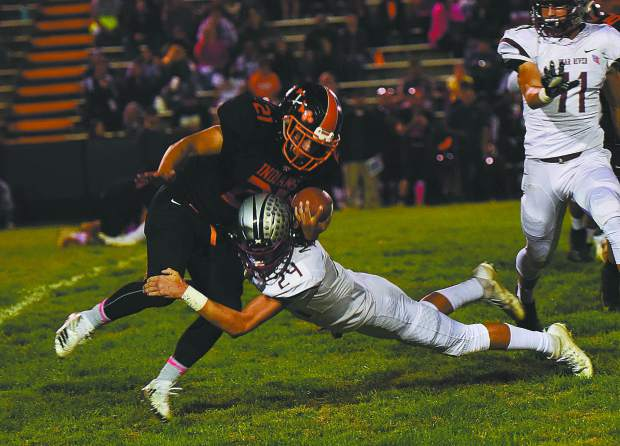 Bear River's Tre Maronic tallied 36 tackles, three fumble recoveries, an interception and a sack during his junior season. Maronic is back for his senior campaign and third year as a varsity starter.