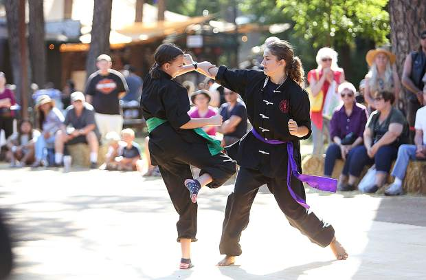 Grass Valley's Phillips School of Martial Arts students demonstrate their skills to the masses at the 2019 Nevada County Fair.