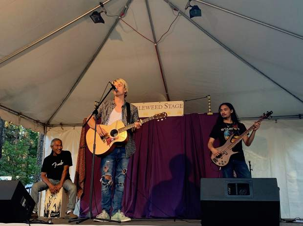Those who stopped by the Tumbleweed stage of the Nevada County Fair were able to watch young artists like London Wallis, showcasing original pieces and popular songs.