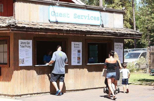 Folks have been taking advantage of the advance sale ticket pricing available at the Nevada County Fairgrounds main entrance.