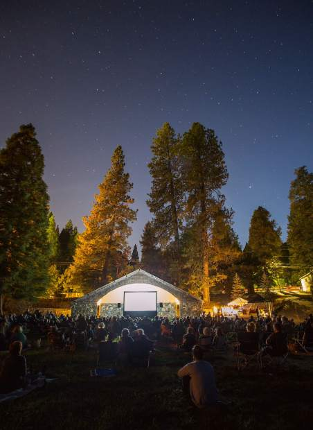 Film enthusiasts gather at Pioneer Park for the Nevada City Film Festival's Best of the Fest.