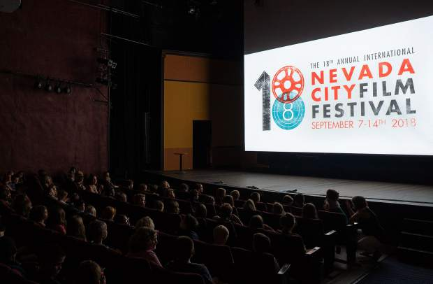 Film-goers wait for a screening to start at the 2018 Nevada City Film Festivak.