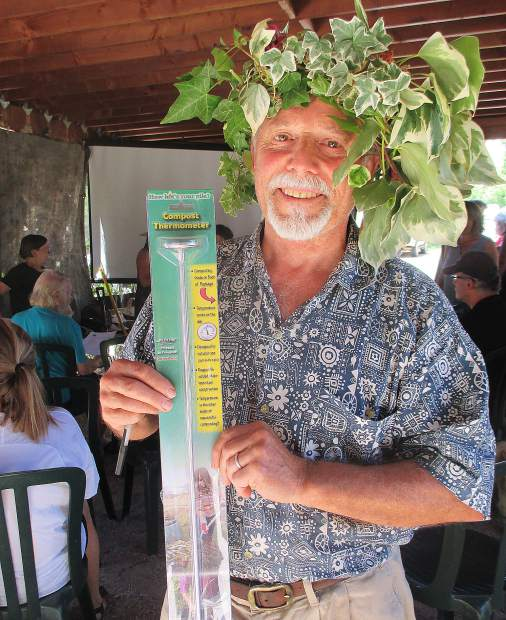 Winner of compost thermometer for guessing temperature of compost at workshop was