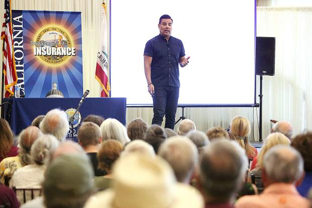 California State Insurance Commissioner Ricardo Lara was in Grass Valley Thursday to discuss what his department is doing to help folks in high wildfire risk areas keep their home fire insurance.