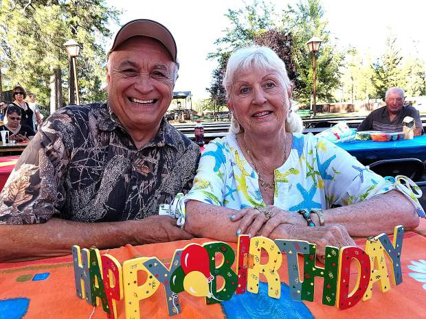 George Chileski celebrated his 78th birthday with his wife Karen and 400 of his closest friends at the 44th Annual Grass Valley Sportsmen's Club Steak Feed.