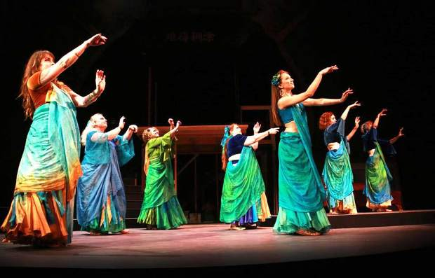 "The ""Jewels of the Yuba"" perform Middle Eastern dance at the Gold Country World Dance Showcase series."
