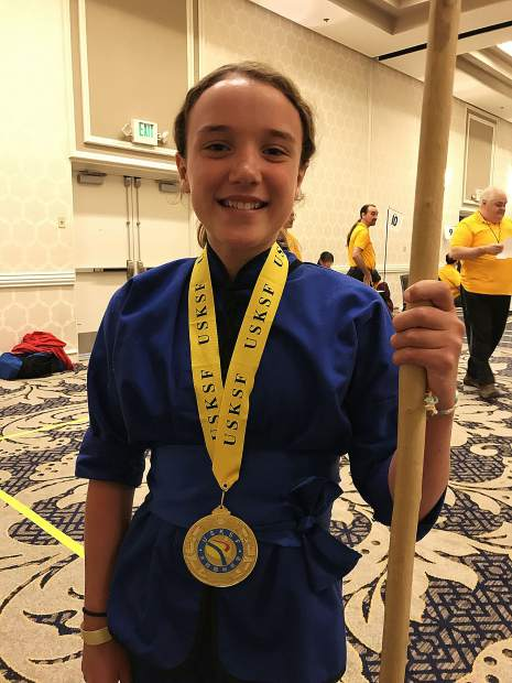 Kayla Aaron earned a pair of gold medals at the U.S. International Kuo Shu Championship Tournament held in Hunt Valley, Maryland in late July.