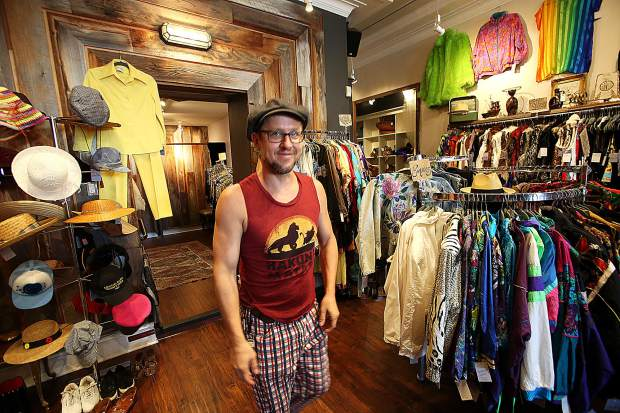 Michael Latronica owns Sunchild's Parlour, a vintage store in downtown Grass Valley.