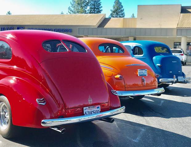 Cars & Coffee in the SPD parking lot takes place Saturday mornings. What fabulous cars!