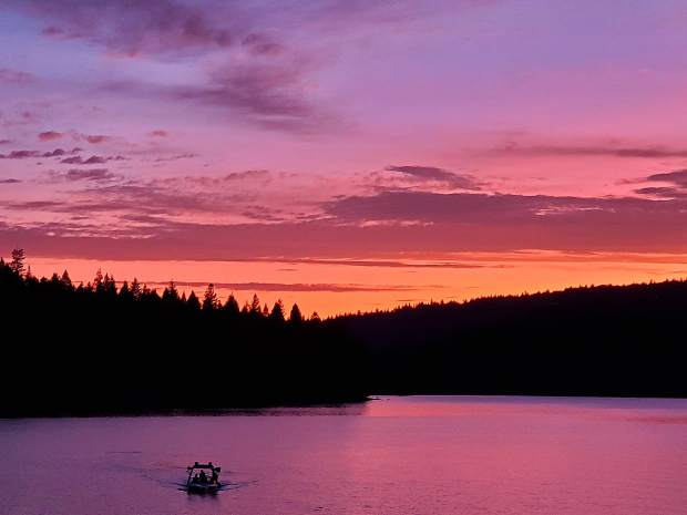 Sunset at Scott's Flat Lake Reservoir last week.