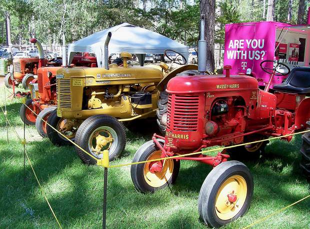 Vintage tractors on display at the Nevada County Fair.