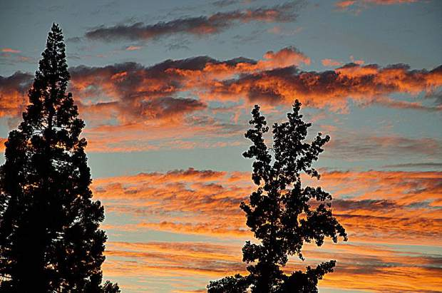 Sunset from Grass Valley on August 5.