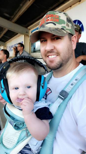 Owen Chamberlain braved the demolition derby with his cute ear muffs at his first Nevada County Fair.