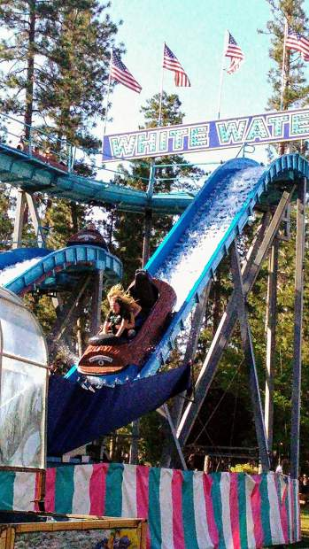 Waterslide at the Nevada County Fair.
