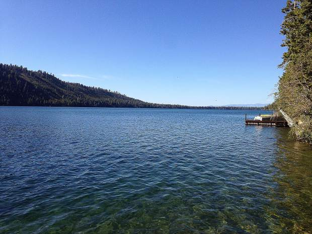 Summer day at Fallen Leaf Lake, Tahoe Basin.