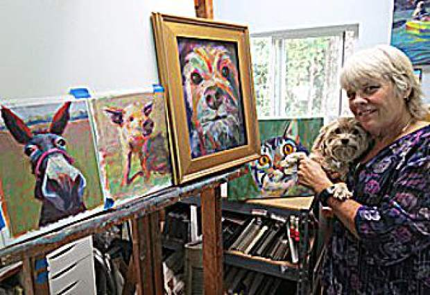 Sandy Lindblad was recently honored with an award by KVIE. She is an artist living in Alta Sierra.