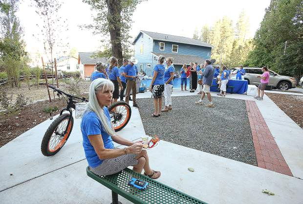 The unused space at the end of Joyce Drive has been transformed into a pocket park with the help of the National Association of Realtors, Nevada County Association of Realtors and Habitat for Humanity.