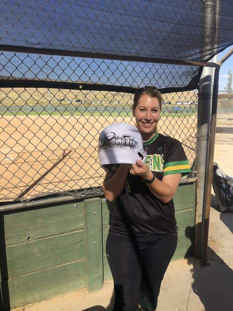"""Greens pitcher Ashley """"Birdie"""" Birdsong-Rice was named the tournament MVP."""