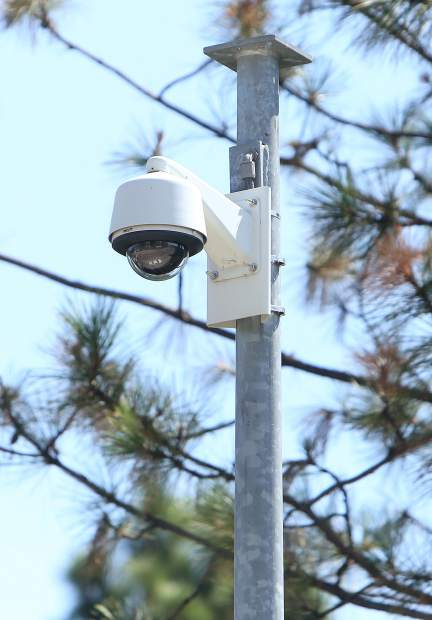 The surveillance cameras were installed about a year ago and are slated to send a live feed to the Grass Valley Police Department.